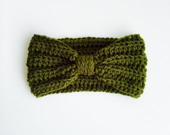 Crocheted Baby/Kid/Adult Turband (Moss)