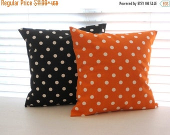 SALE Halloween Pillow Cover, Halloween Decor, Pillow, Orange and Black Pillow, Pillow, Decorative Throw Pillows, Throw Pillow, Decorative Pi
