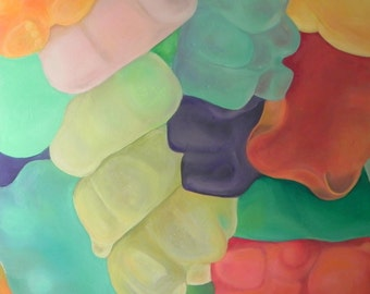 Gummi Bear Oil Painting