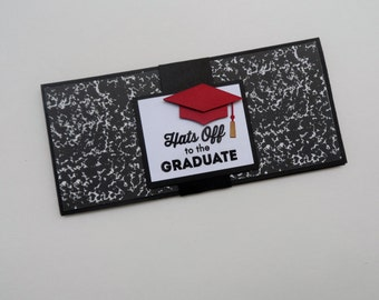 Graduation Money Holder -- Hats off to the Graduate -- High School Graduation -- Money for Graduation