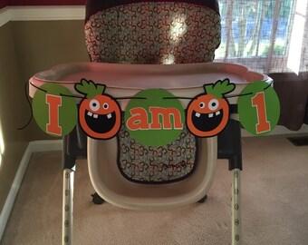 Pumpkin Theme I am 1 Highchair Banner | Perfect for a Halloween or Pumpkin Theme Birthday Party