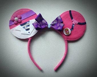 DOC MCSTUFFINS inspired Minnie Mouse Ears Headband Disney Jr/Animals/Pink/Purple/Doctor