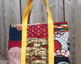 Made over African shopping bag