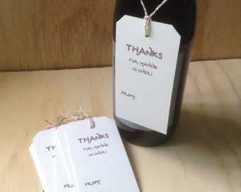 gift / wine tags, vintage inspired, wine bottle tags, hostess gift