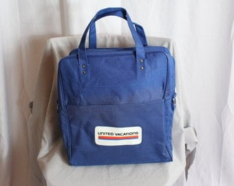 Vintage 1970s UNITED VACATIONS travel bag