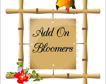 Add on matching bloomers