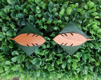 Autumn Leaf- Handmade Wooden Earrings
