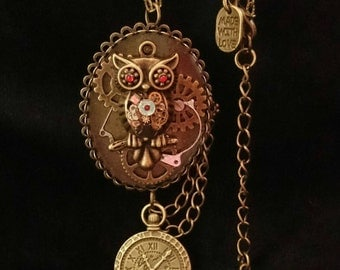 Steampunk Hooters Archimedes Owl necklace *LIMITED EDITION! 20 in stock!