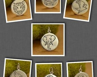 Sterling Silver Animal Spirit Charm - Power Animal-Animal Lover-Nature
