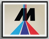 BMW Art Print - Ultimate Driving Machine Abstract M3 M4 M5 M6 X5 Poster M Sport Power Z Coupe Roadster Poster