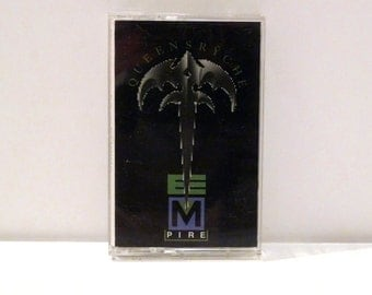 Queensryche Band Vintage Cassette Tape Empire Silent Lucidity 1990 Heavy Metal Hard Rock Music Geoff Tate Michael Wilton Chris Degarmo