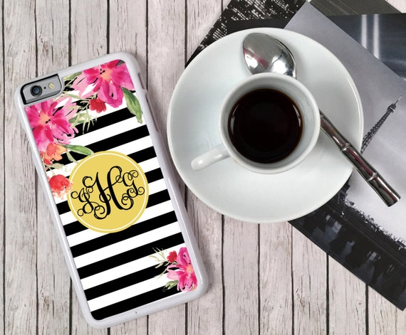 Cell Phone Case Monogrammed Personalized iPhone 8 7 6s+ 6 5 5c 5s 4 4s S6 Edge Samsung S6 S5 Tough Rubber Plastic Custom Best Friend Gift