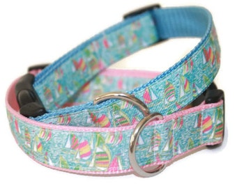 Lilly Pulitzer Inspired UGotta Regatta Dog Collars with Leash Option