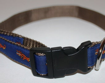 Orange Gator Dog Collar