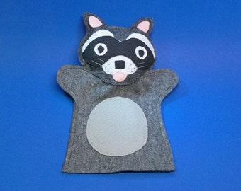 Raccoon Felt Hand Puppet