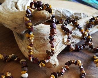 Mookite stretchy bracelet ~ One Reiki infused gemstone chip bead bracelet