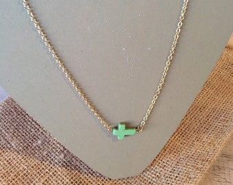 Green Cross Necklace
