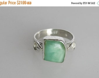 20% OFF SALE Chrysoprase Ring, Green Color, 925 Solid Sterling Silver Gemstone Ring, Handmade Jewelry  All Sizes ,16-RI1382