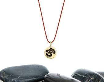 OM Necklace, OM Charm, Om Jewelry, Yoga Jewelry, Yoga Necklace, Meditation Jewelry, Minimalist Necklace, Tiny Necklace, JIN247TBR
