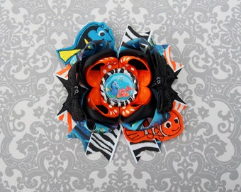 Clown Fish Hair Bow - Nemo Bow - Dory Hair Bow - Dori Bow - Dory and Nemo Bow