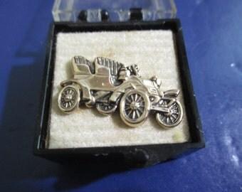 Vintage Roadster Automobile Car Class Sarah Coventry Signed Tie Tack Lapel  Original Box