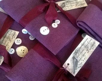 32ct PURPLE linen