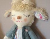 Lena the Lamb - Handmade One of A Kind Artist Doll