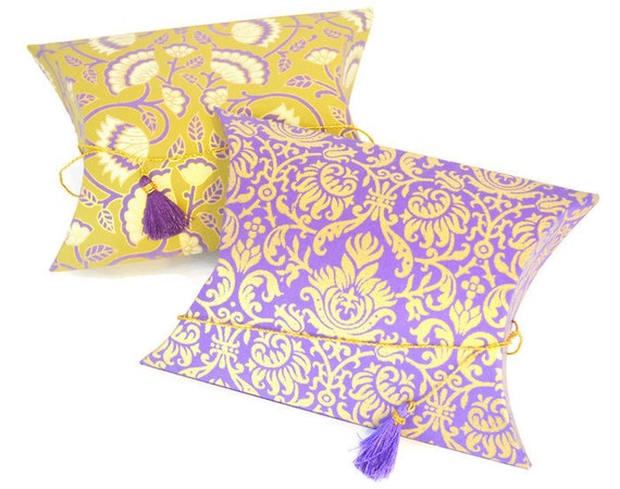 Send Wedding Gifts Online India: Pillow Pouch Box With Tassel Wedding Gift Box Indian Wedding