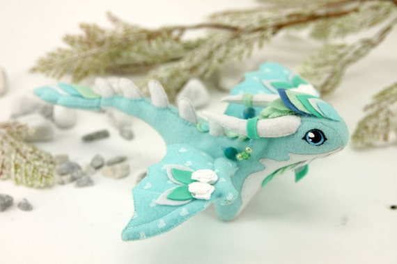 Soft toy dragon fantasy plush animal textile toys soft for Dragon fabric kids