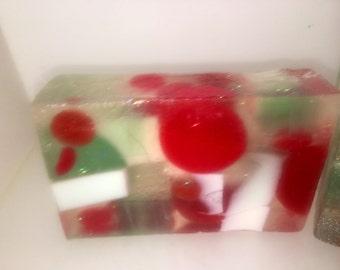 pine scented soap, handmade artisan soap bar, big soap bar, pretty soap bar