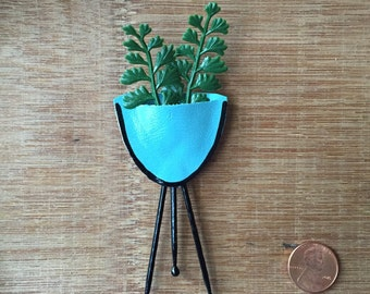 Blue Bullet Planter pin/brooch