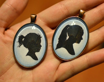Personalized Silhouette Necklaces