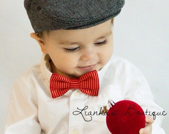 Baby Boy Bow Tie Classic Bowties Bow Tie Clip Bows Red and Gold Bow Tie