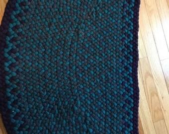 Hearth shaped rug
