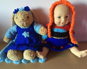 Elsa and anna inspired dolls outfits