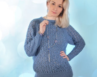 """Knitted sweater """"Skiey"""""""