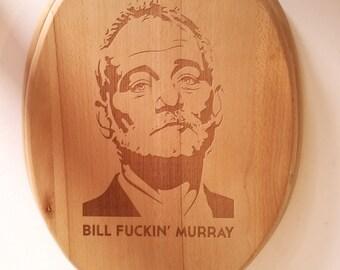 Toilet Seat - Personalised - Engraved - Wood - White - Fun Gift