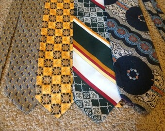 Lot of 4 Vintage Long Neck Ties