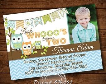 OWL BIRTHDAY INVITATION, Owl Invitations, Owl Party Invitation, Owl Printable, Owl Party, Boys Owl Invitation, Boys Invitation, Owl Birthday