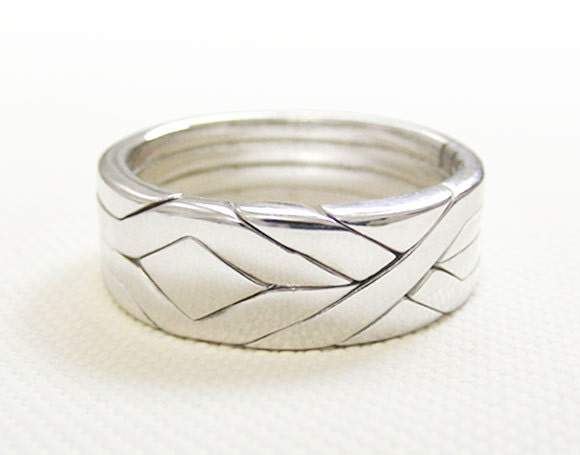 solid unique puzzle rings by puzzleringmaker sterling