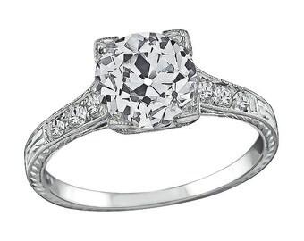 Antique 1.61ct Diamond Engagement Ring