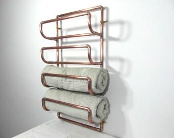 bathroom towel rack bathroom towel holder industrial design recycled bathroom accessory french - Bathroom Towel Holder