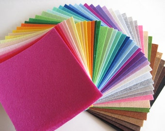 Acrylic Felt Rectangles - 4 X 6  Felt Rectangles - 40 Pieces Pack - 40 Colors