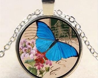 Butterfly Necklace, Butterfly Pendant, Butterfly Jewerly, Photo Jewerly, Photo Necklace