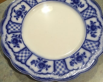 "REDUCED 10"" Dinner Plate Flow Blue Melbourne by Grindley"