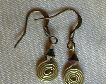 Copper Earring with Bead