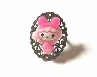 pink girl ring