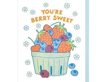 You're Berry Sweet Letterpress Card