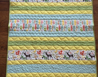 Scrappy Stripes Baby Quilt