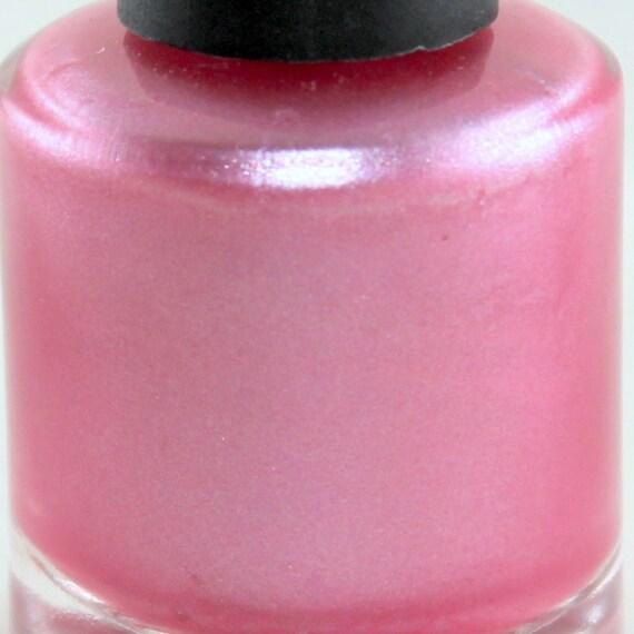 Blushing Soft Pink Pearl Nail Polish Pink Shimmery Polish Pale Pink Nails